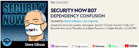 Security Now Podcast 807